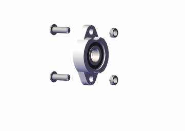 "Bearing, 3/4"" (2 cm) Flanged Axle Bearing with boltSerial No.uts"