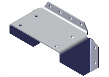 Bracket, Aluminium for Top Mount Pivot to Vertical Surface